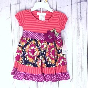 🔷BOGO🔷🆕 Bonnie Baby floral baby girl dress set
